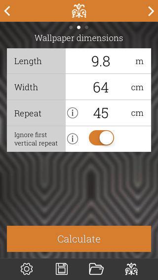 Calculer nombre de rouleaux application iPhone